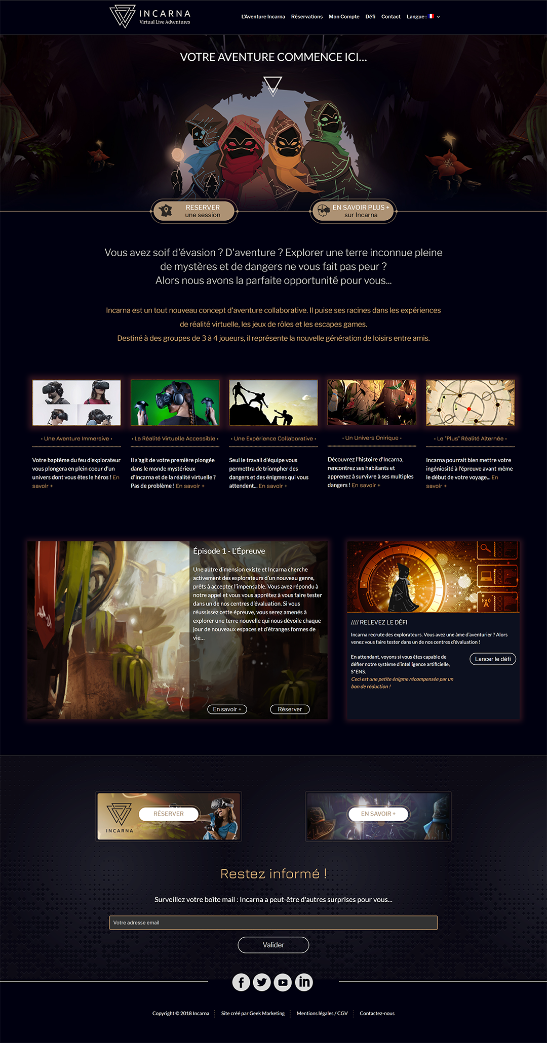 Incarna - Site Internet