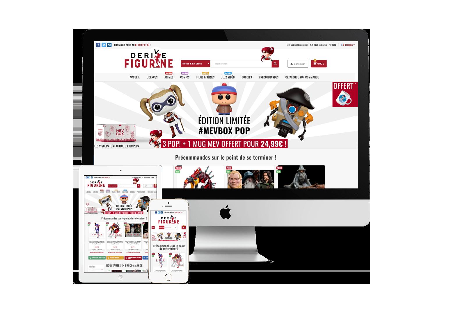 Site Internet Responsive - Derive Figurine
