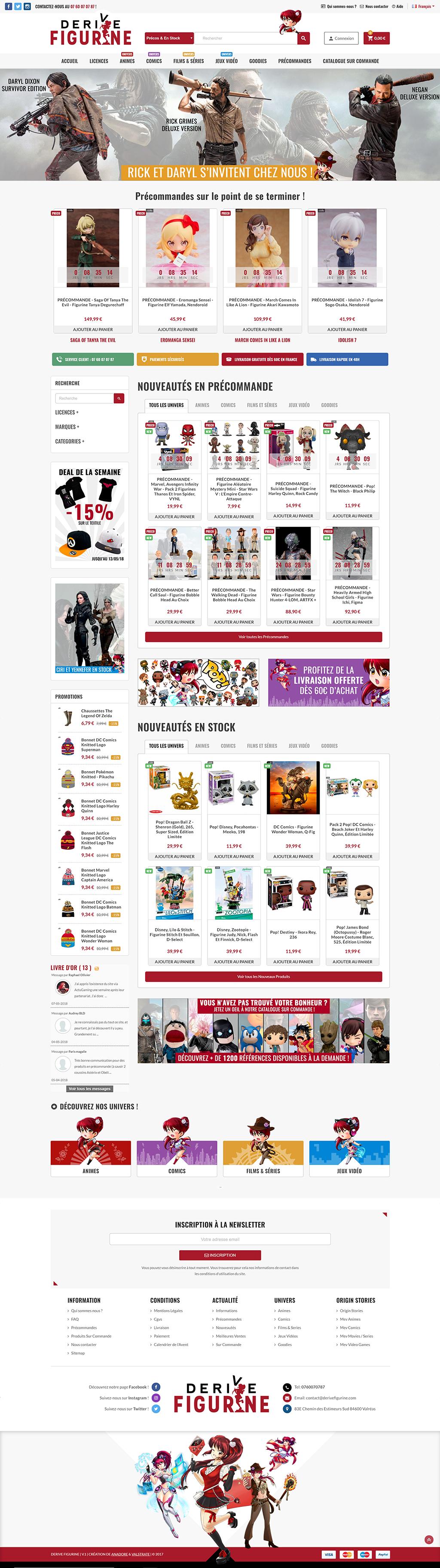 Site Internet - Derive Figurine - Valstrate